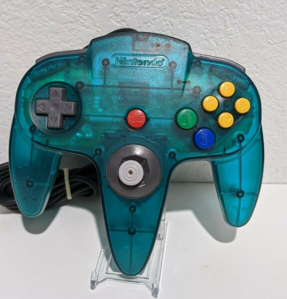 OEM OFFICIAL Nintendo 64 Clear Ice Blue Controller Teal Ice Aqua N64 TESTED $37.59