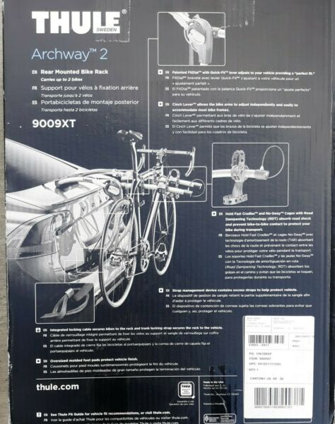 Thule 9009XT Archway 2 Trunk Rack: 2 Bike new in box $215.00