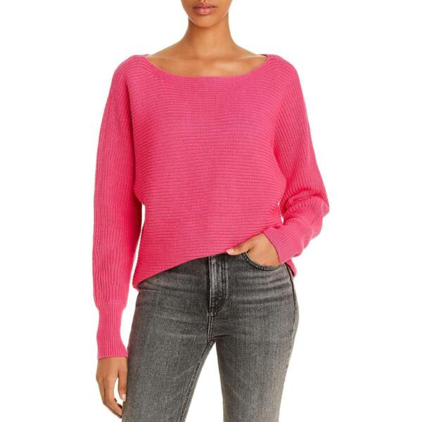 Aqua Womens Ribbed Off The Shoulder Long Sleeves Sweater Top BHFO 8728 $15.99