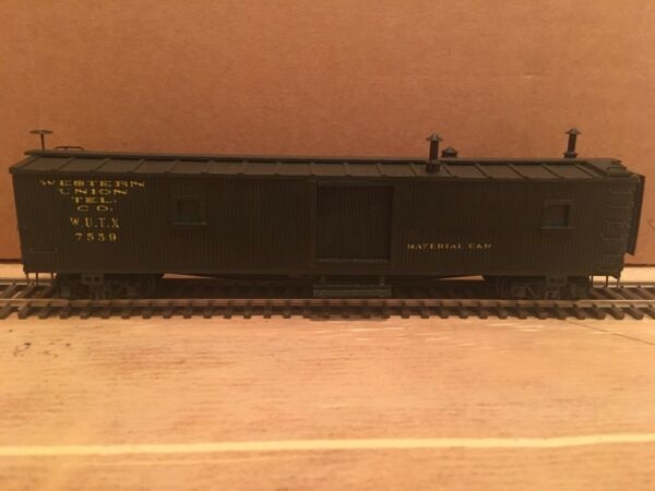 HO Ambroid Western Union Wood Material Car WUTX #7559 $30.00