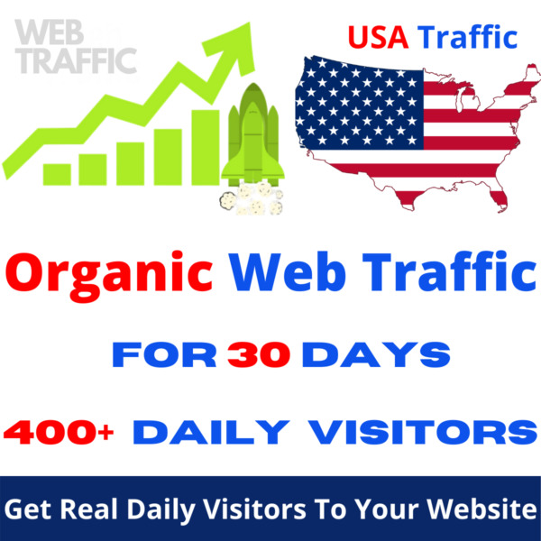 Unlimited US only Google targeted website web traffic for 30 days