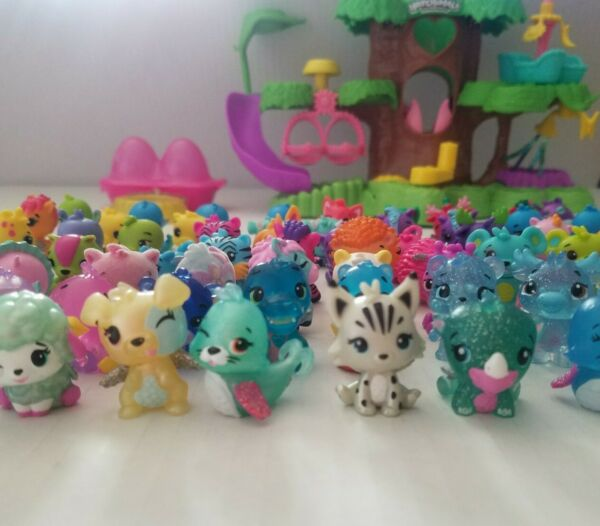 Hatchimals Colleggtibles holiday wobble head Playset tree nursery rare Christmas