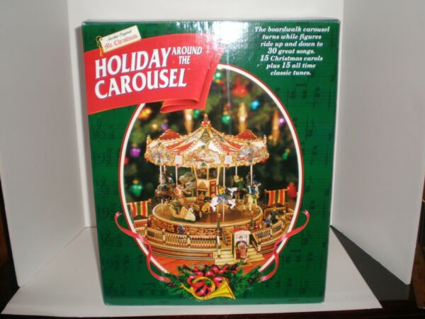 Mr. Christmas Holiday Around The Carousel 1997 Vintage New Old Stock