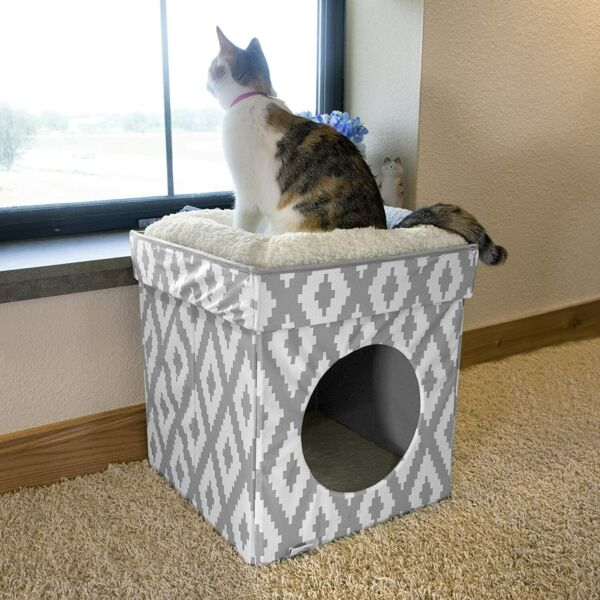 Large Cat Bed Stackable Cat Cube Indoor Cat House Cat Condo $65.00