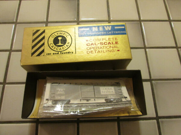 olympic cascadian GEORGIA CENTRAL wood metal box car kit HO scale $20.90