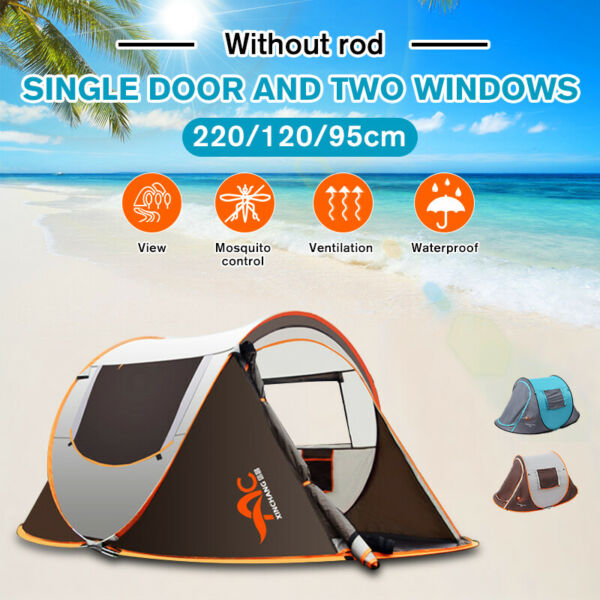 US 3 Person Automatic PopUp Outdoor Hiking Camping Tent Waterproof UV Protectio $55.74