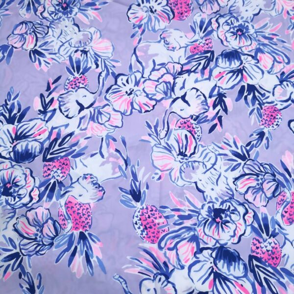 Trunks in the Air Lilly P Poplin Cotton Fabric 1 yard x 57quot;