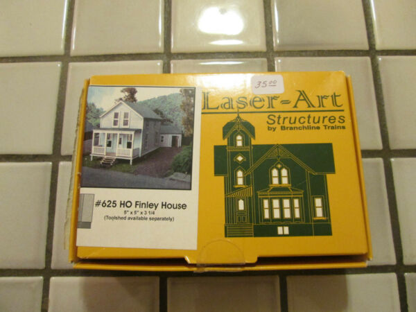 laser art structures FINLEY HOUSE wood kit HO scale $35.90