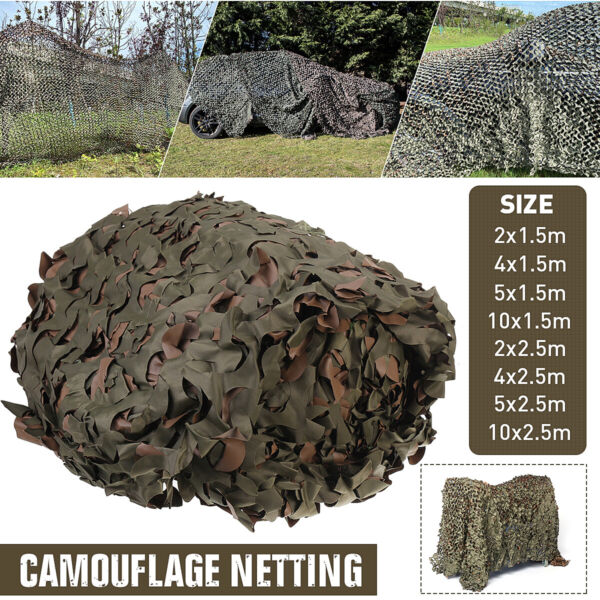 Camouflage Netting Camo Net Woodland for Military Sunshade Camping Hunting Cover