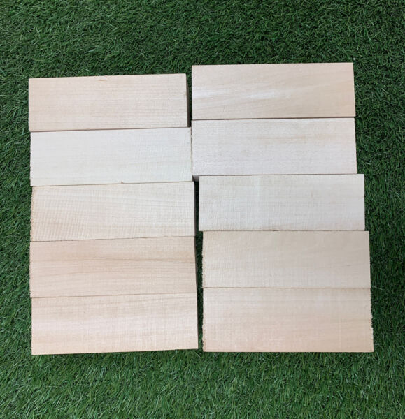 10 Pack Set 2 1 2quot; x 2 1 2quot; x 8quot; Basswood Carving Wood Blocks Craft Turning