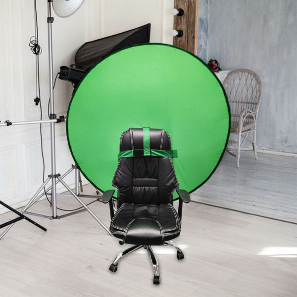 Round Green Backdrop Photography Background Screen Portable Photo Video Studio
