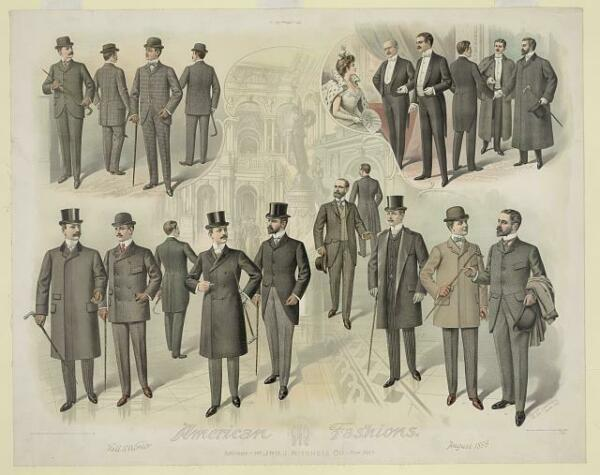 American FashionsMen wearing fall and winter business amp; theater fashionsc1899