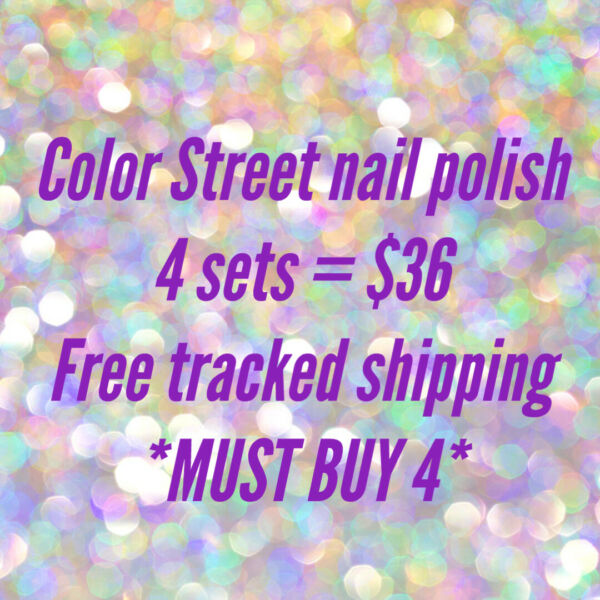 NEW COLORS COLOR STREET any 3 sets $30 *MUST BUY 3* Tracked SHIP FREE $10.00