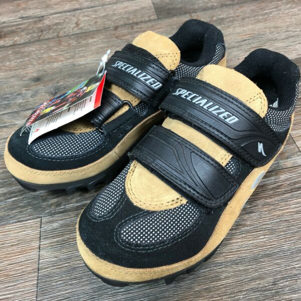 Specialized Mountain Bike clipless shoes Tan Suede Sz 36 S43 $44.96