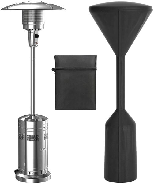 NEW Upgraded Patio Heater CoverBlack Waterproof Protector Garden Outdoor Heater