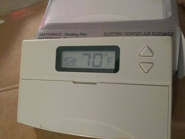 6 wire Single Stage 1H 1C HEAT PUMP non program Thermostat gas electric furnace $14.95