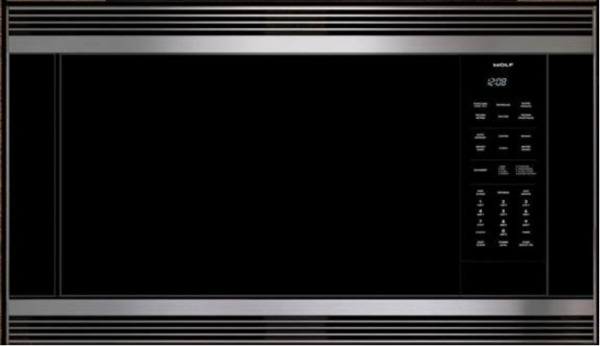 Wolf MC24 24quot; Microwave Oven Black 809960 E Series Built In Trim Kit Stainless
