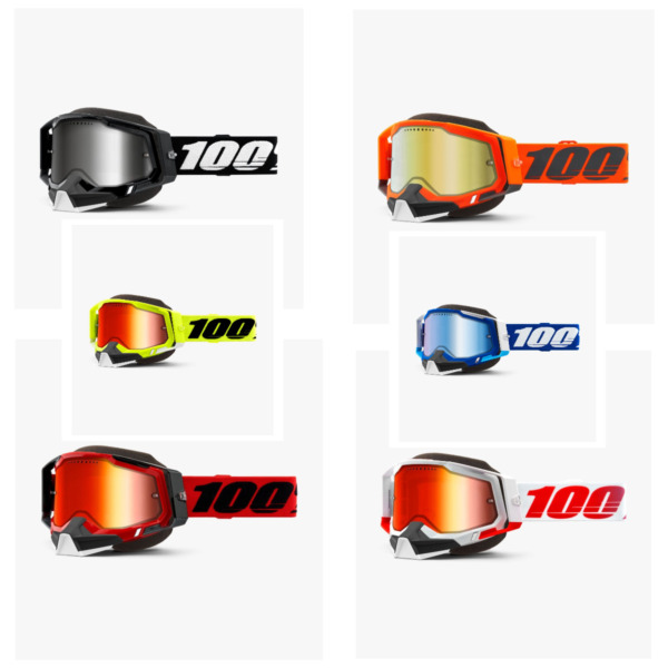 2021 100% Racecraft 2 Snow Mirror Lens MX Motocross Offroad Goggles