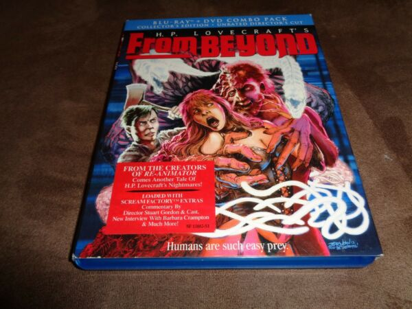 From Beyond Blu ray w Slipcover 2 Disc Set Scream Factory Horror $39.99