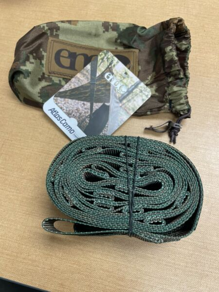 ENO Suspension System Hammock Tree Straps Camo Atlas Doublenest Single Camping $22.80