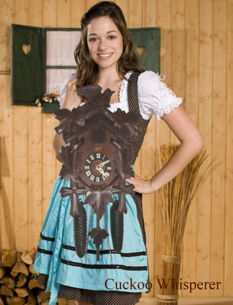 German Black Forest made Schatz Linden Wood 8 Day Cuckoo Clock CK2771