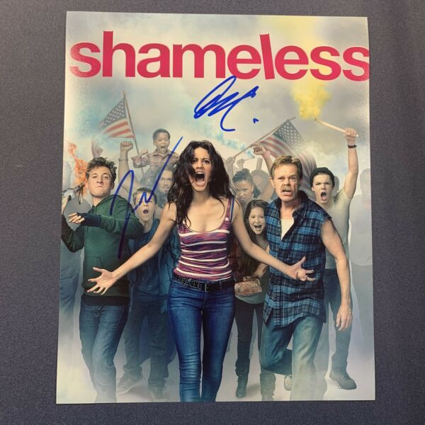 SHAMELESS CAST x2 SIGNED 8x10 PHOTO AUTOGRAPH JEREMY ALLEN WHITE amp; ETHAN COA