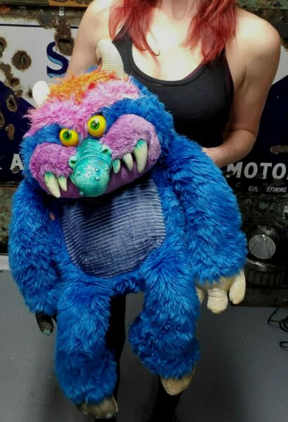 Vintage 1986 MY PET MONSTER Large 24quot; Am Toy Plush Monster No Cuffs $180.00