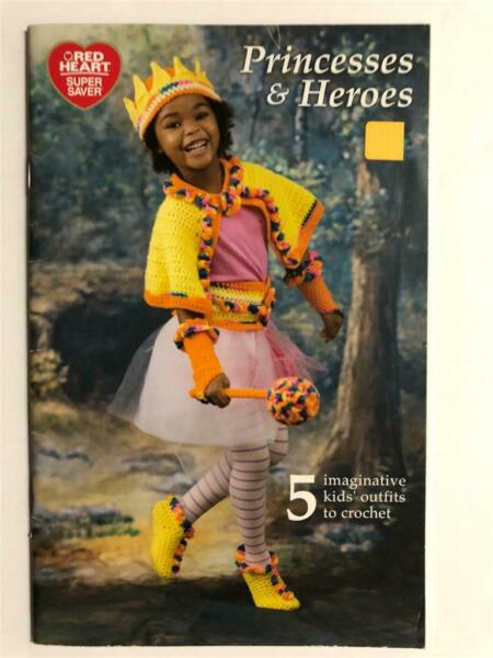 vintage Red Heart PRINCESSES amp; HEROES costumes to CROCHET prince super hero $6.00
