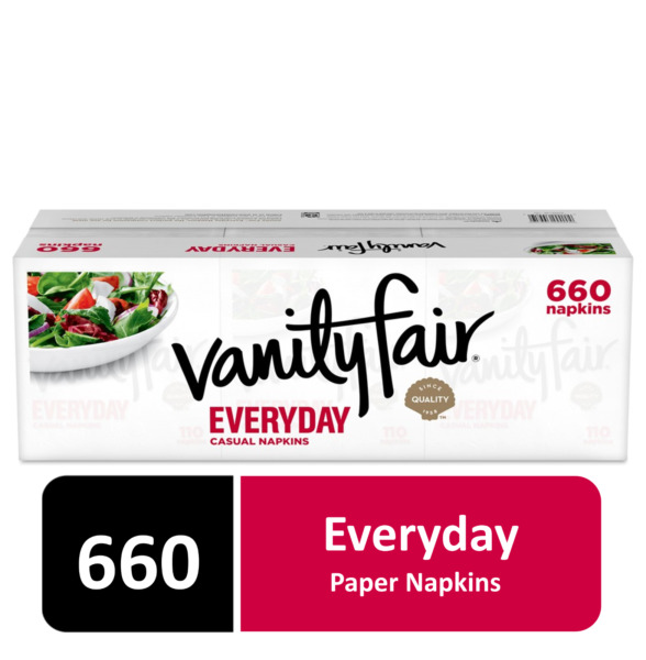 Vanity Fair Everyday Napkins Disposable White Paper Napkins 660 Count