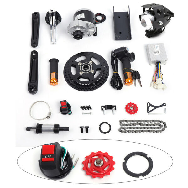 ELECTRIC BICYCLE MID DRIVE MOTOR KIT CONVERSION KIT f COMMON BIKE DIY 450W 48V $219.00