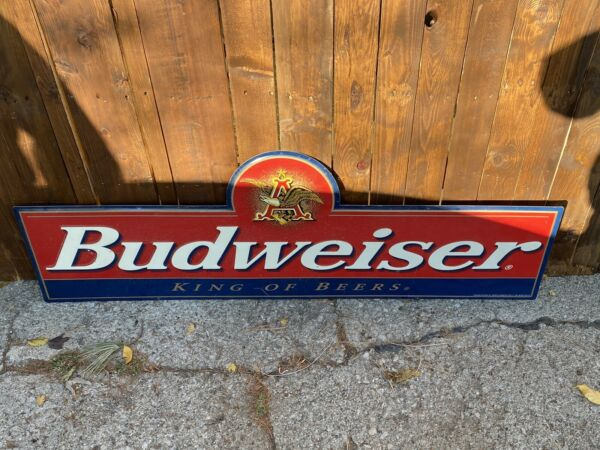 budweiser tin beer signs