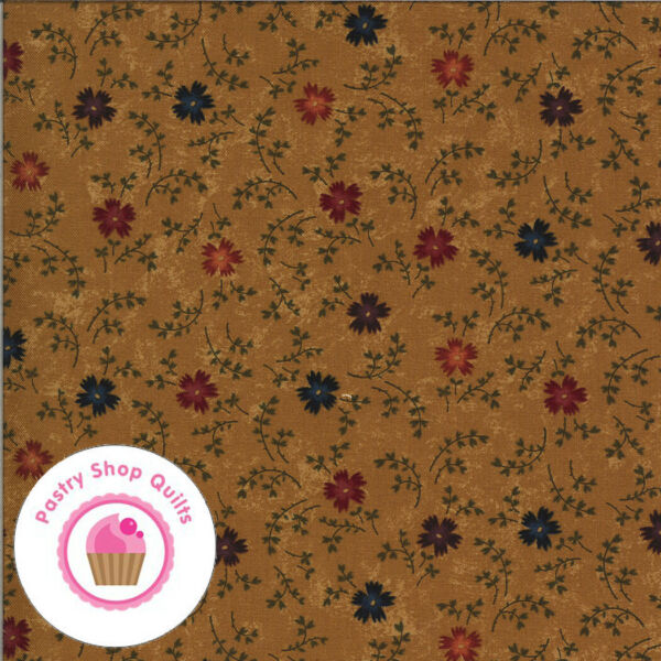Moda BITTERSWEET LANE 9642 12 Gold Brown Floral KANSAS TROUBLES Quilt Fabric