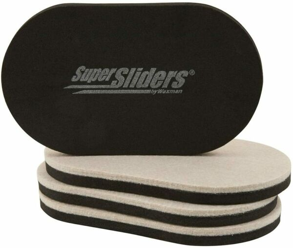 """SuperSliders Reusable Furniture Movers for Hardwood 3.5"""" x 6"""" Linen 4 Pack $7.99"""