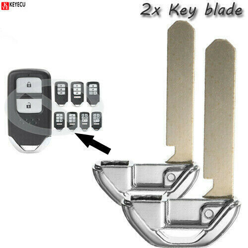 For Honda Replacement Blade Insert Uncut Blank Emergency Smart Key Remote $7.19