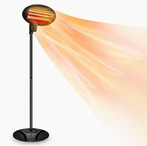 Patio Heater Electric Outdoor Heater 1500W 3 Adjustable Power Level Outdoor Inf