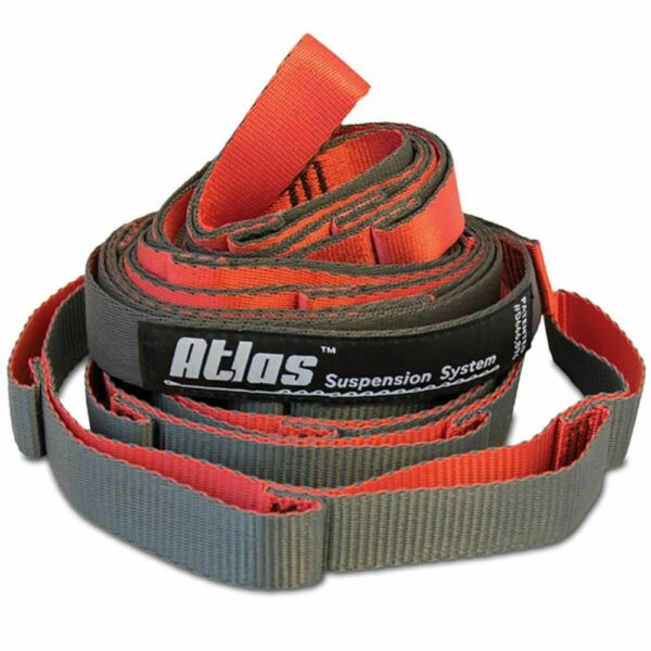Eagles Nest Outfitters ENO Atlas Chroma Hammock Suspension Straps Red Charcoal $27.97