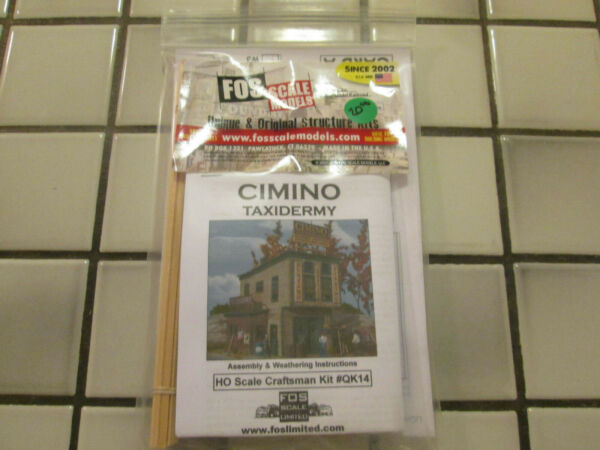 FOS SCALE MODELS CIMINO TAXIDERMY WOOD KIT HO SCALE $46.90