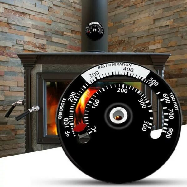 Magnetic Wood Stove Thermometer Household Fan Kitchen Sensitivity Barbecue Oven $6.99