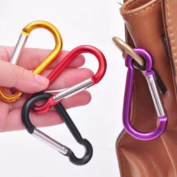 Aluminum Snap Hook Carabiner D Ring Key Chain Clip Keychain Hiking Camp C $0.99