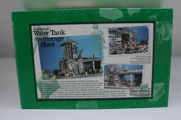 Sierra West 202 HO Scale Backwoods Water Tank and Storage Shed Building Kit $194.99