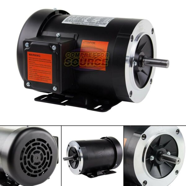 1 2 HP Electric Motor 3 Phase 56C Frame 1800 RPM TEFC 208 230 460 Volt New $164.95