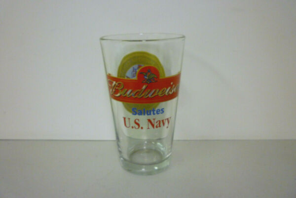 Collectible Budweiser Salutes U.S. Navy Beer Glass Tumbler