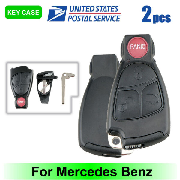 2Remote Key Fob Shell Case Blade Replacement for 03 2006 BenzC E S ClassIYZ 3312