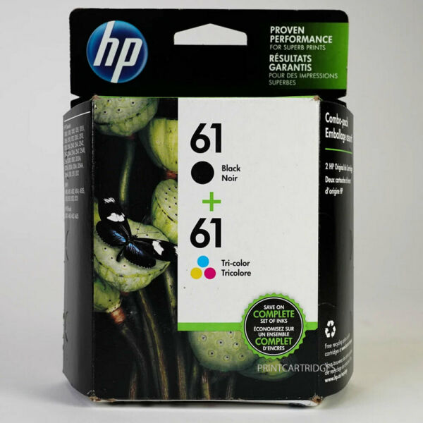 HP 61 Combo Black and Color Genuine Ink Cartridges