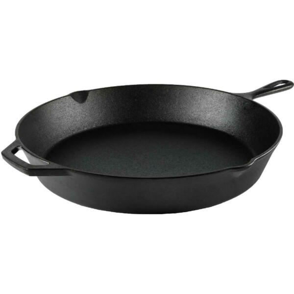 Ozark Trail 15quot; Cast Iron Skillet with Handle and Lips
