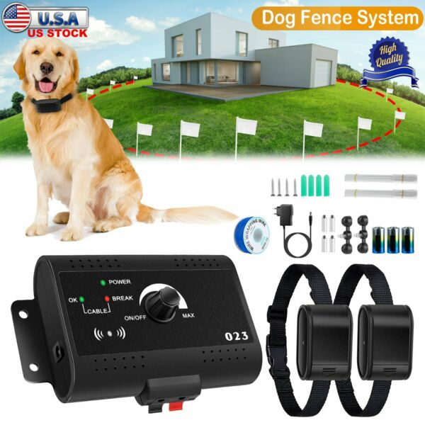 Wireless Electric Dog Fence Pet Containment System Shock Collars For 2 Dogs $33.68