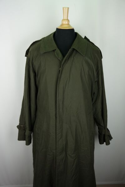 Burberry Green Belted Overcoat Trench Coat Removeable Cashmere Blend Liner 38R $89.99