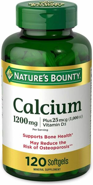 Calcium Carbonate amp; Vitamin D by Nature#x27;s Bounty Supports Immune Health amp;... $16.99