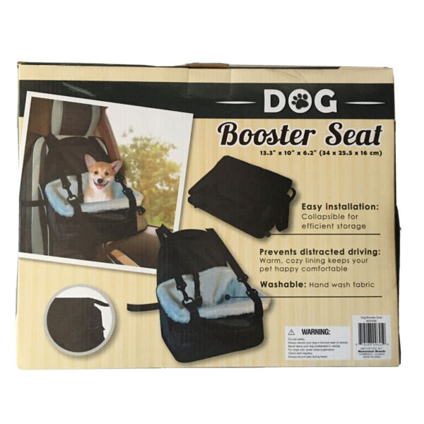 Dog Booster Seat Warm Cozy Lining Keep Your Pet Happy Comfortable H 35 $17.99
