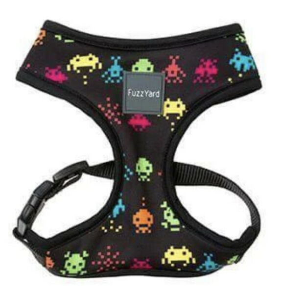 FuzzYard SPACE RAIDERS Multi Color Chest Plate HARNESS Puppy Dog XLARGE $24.50